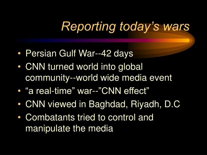 Reporting today's wars
