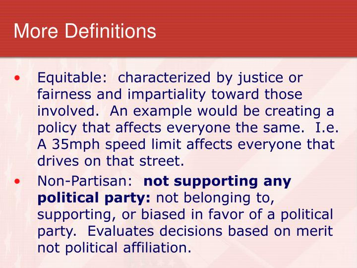 More Definitions
