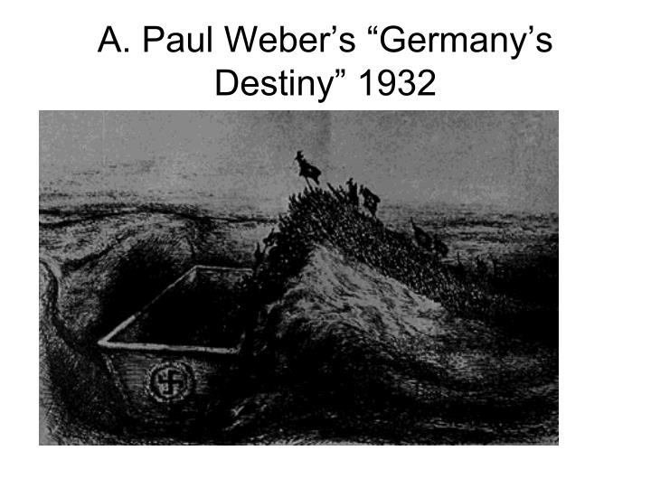 A paul weber s germany s destiny 1932