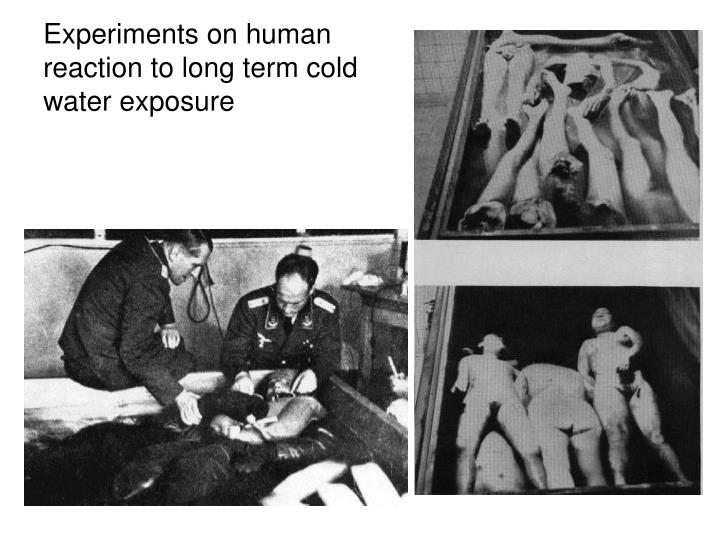 Experiments on human
