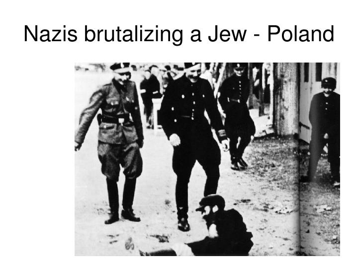 Nazis brutalizing a Jew - Poland
