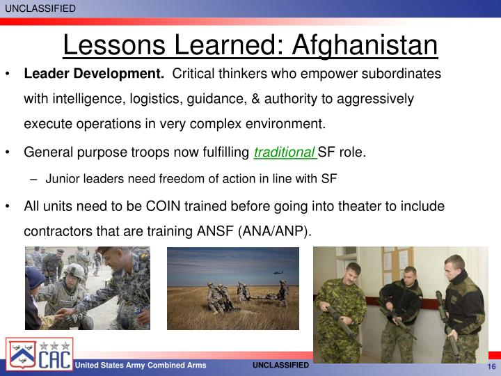 Lessons Learned: Afghanistan