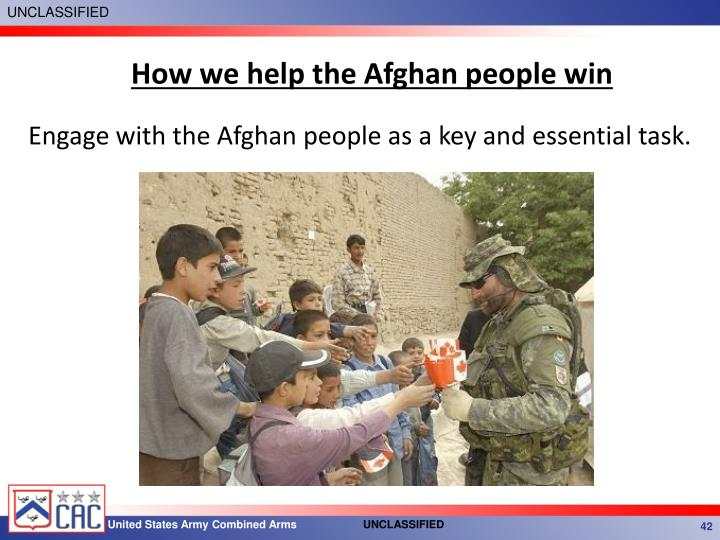 How we help the Afghan people win