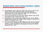 registration and communication rights
