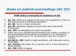 rules on judicial proceedings gc iii