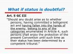 what if status is doubtful
