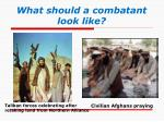 what should a combatant look like1