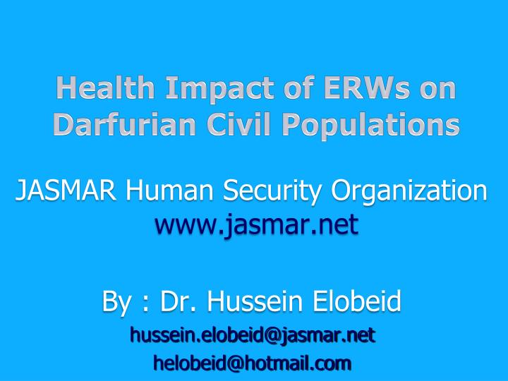Health Impact of ERWs on