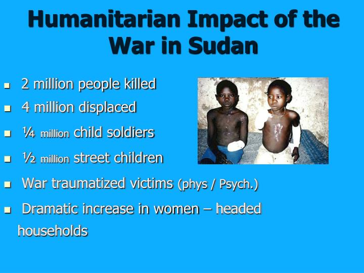 Humanitarian Impact of the War in Sudan