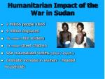 humanitarian impact of the war in sudan