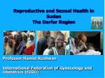 reproductive and sexual health in sudan the darfur region