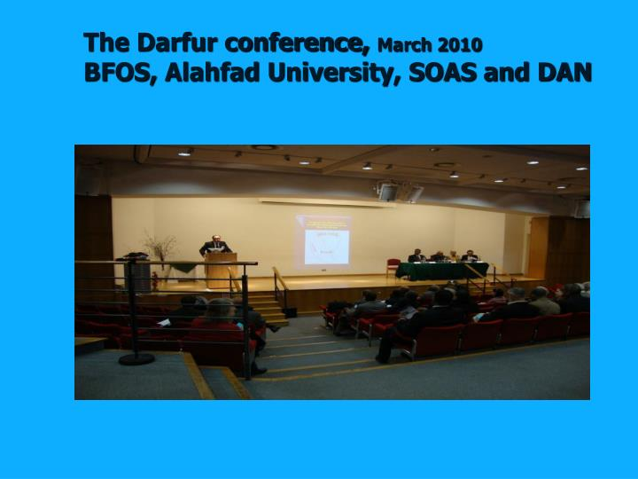 The Darfur conference,