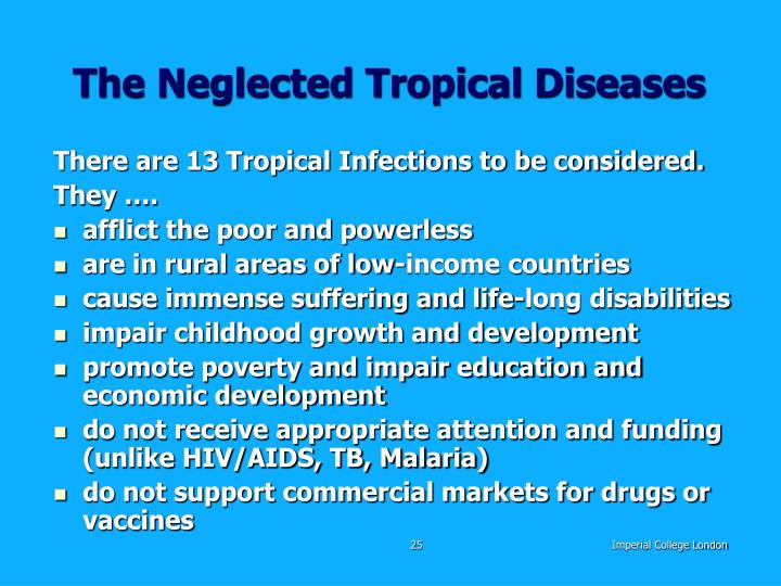 The Neglected Tropical Diseases