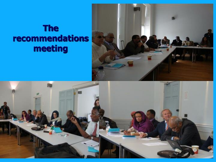 The recommendations meeting