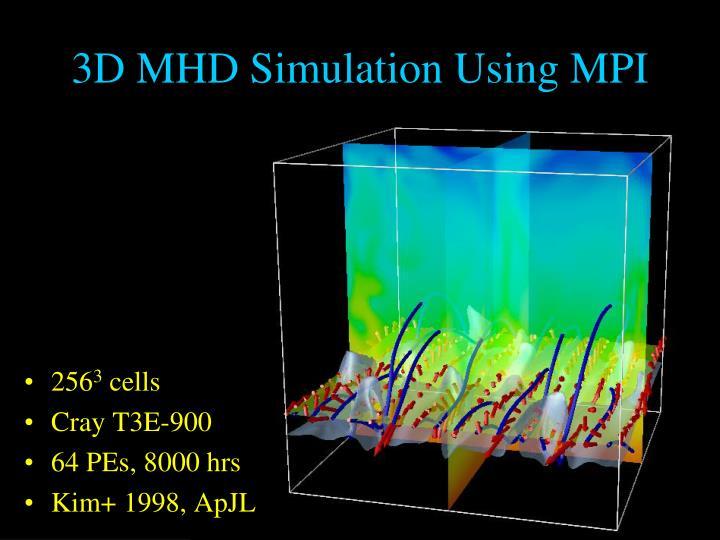 3D MHD Simulation Using MPI