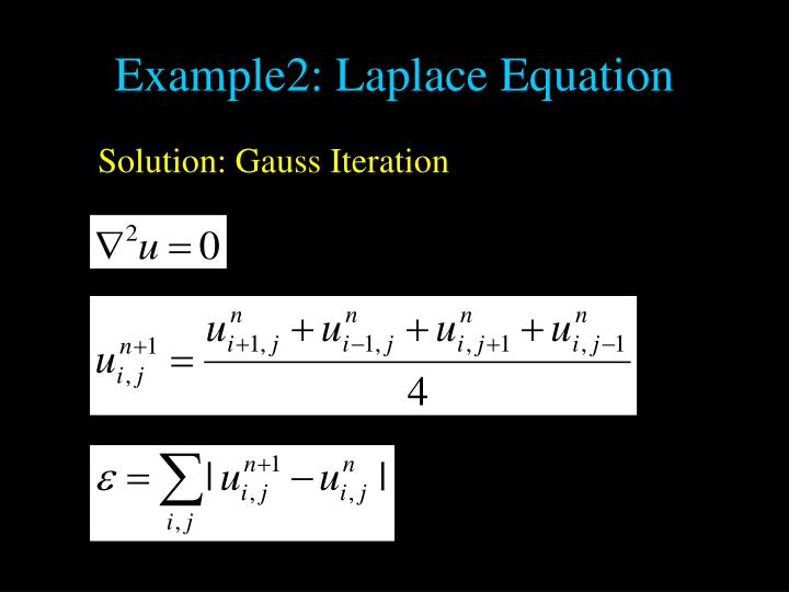 Example2: Laplace Equation