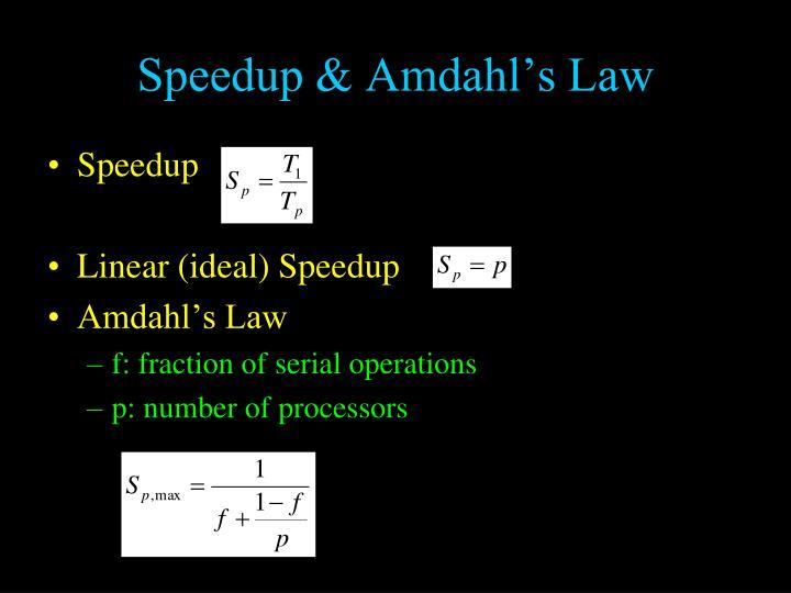 Speedup & Amdahl's Law