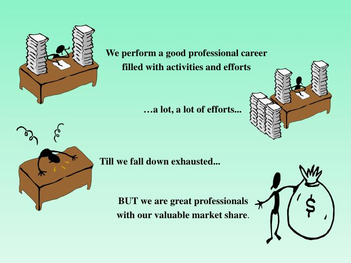 We perform a good professional career