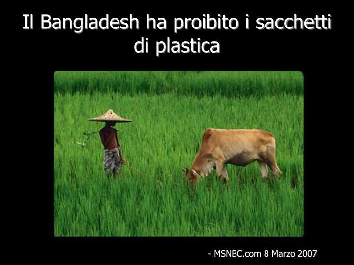 Il Bangladesh ha proibito i sacchetti di plastica