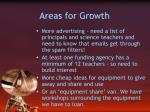areas for growth