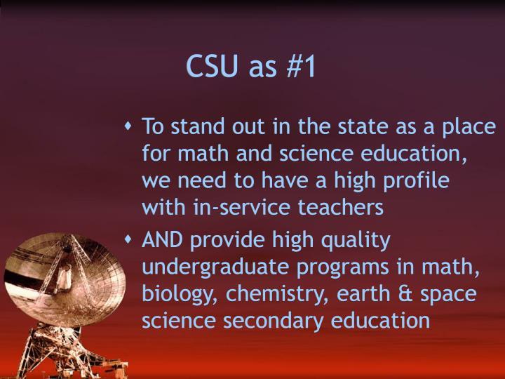 CSU as #1