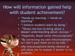 how will information gained help with student achievement