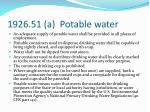 1926 51 a potable water