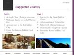suggested journey