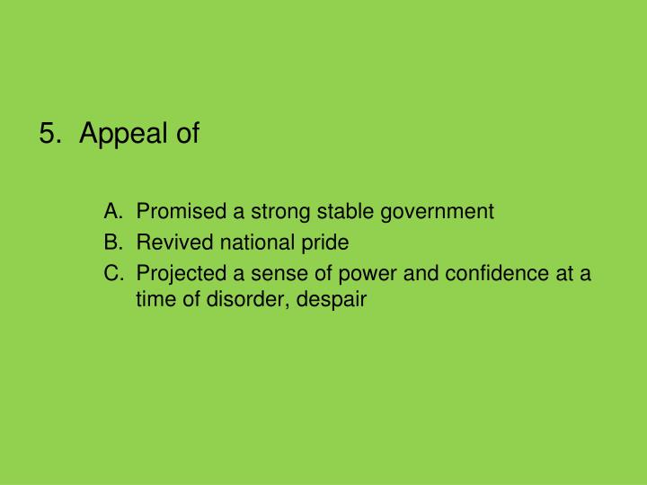 5.  Appeal of