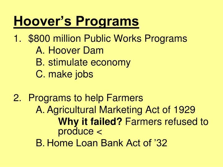 Hoover's Programs