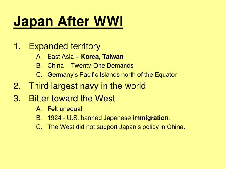 Japan After WWI