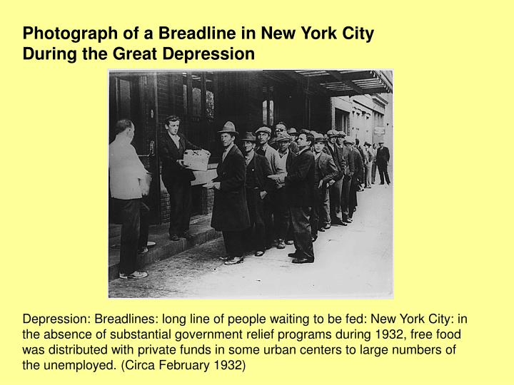 Photograph of a Breadline in New York City