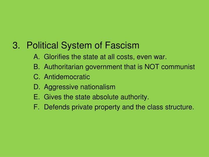 Political System of Fascism