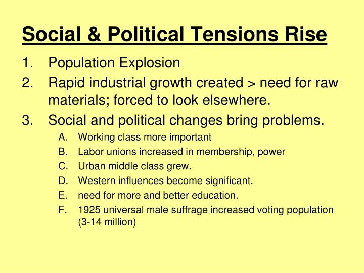 Social & Political Tensions Rise