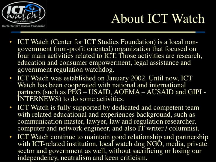 About ict watch