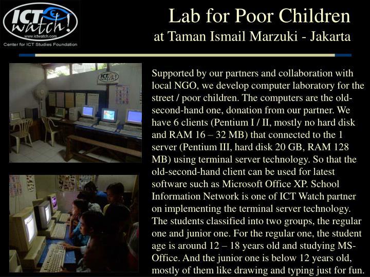 Lab for Poor Children