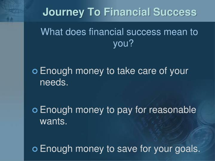 Journey To Financial Success