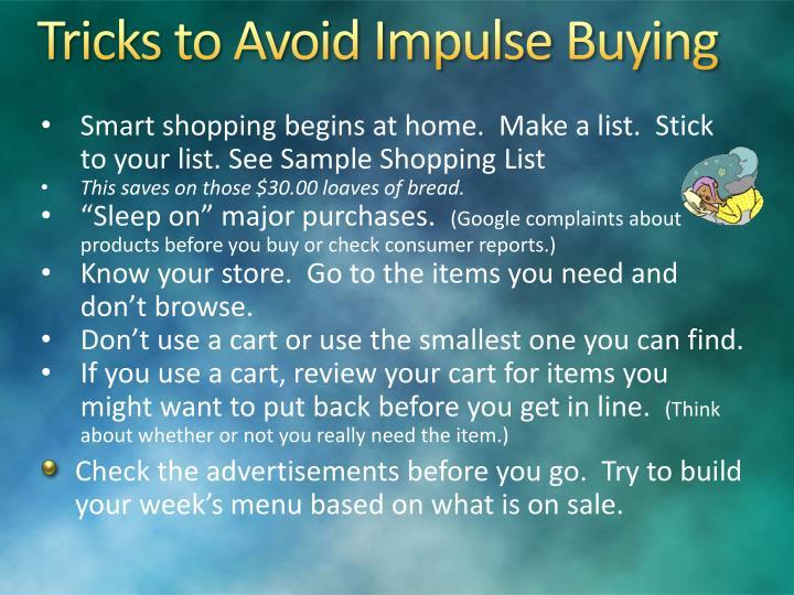 Tricks to Avoid Impulse Buying