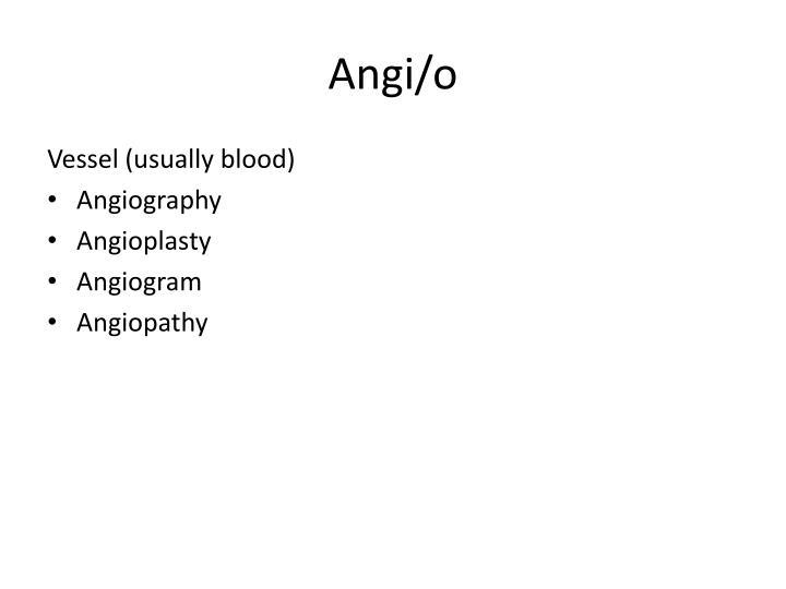 Angi/o
