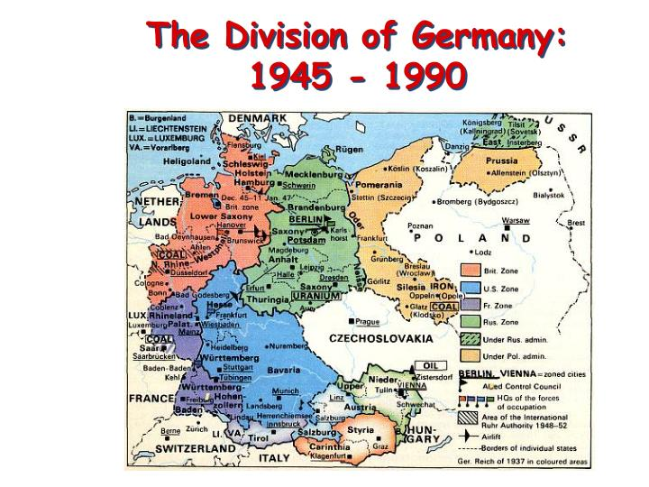 The Division of Germany: