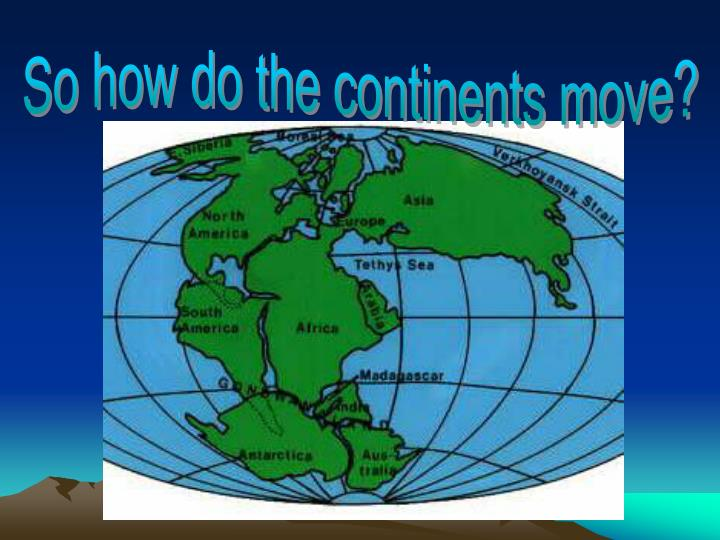 So how do the continents move?
