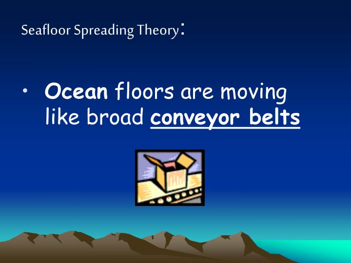 Seafloor Spreading Theory