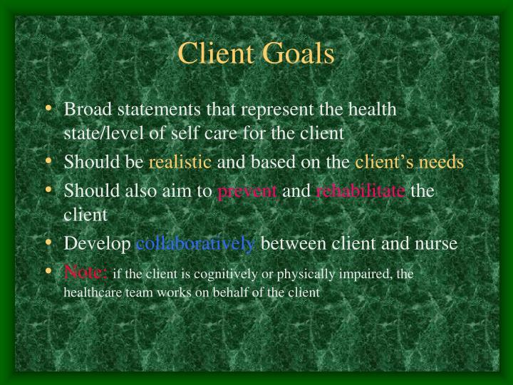 Client Goals