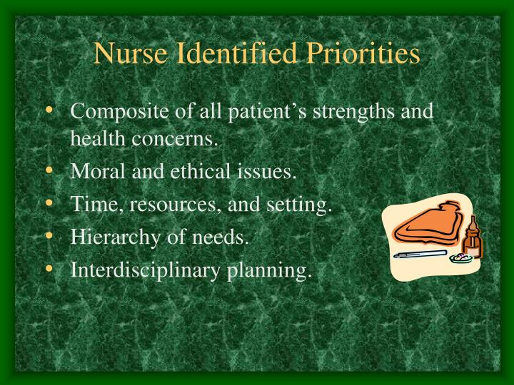 Nurse Identified Priorities