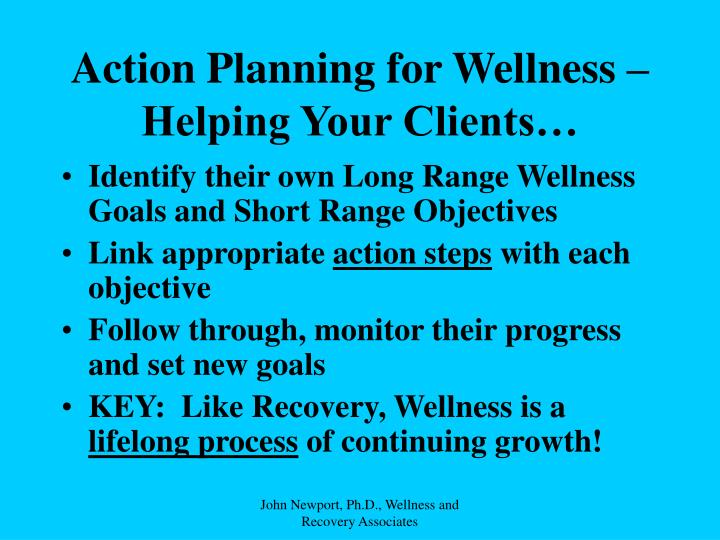 Action Planning for Wellness –