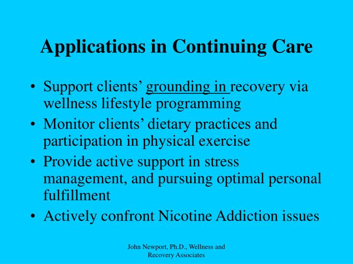 Applications in Continuing Care