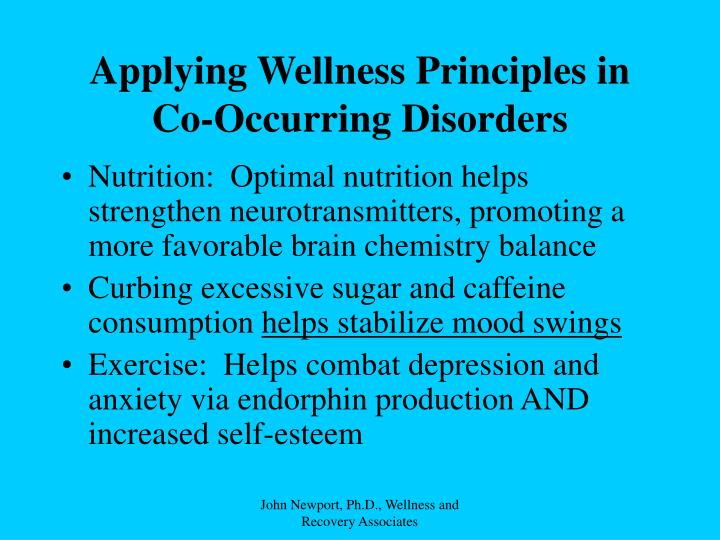 Applying Wellness Principles in Co-Occurring Disorders