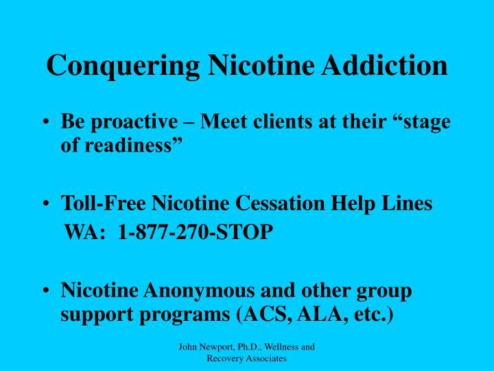 Conquering Nicotine Addiction