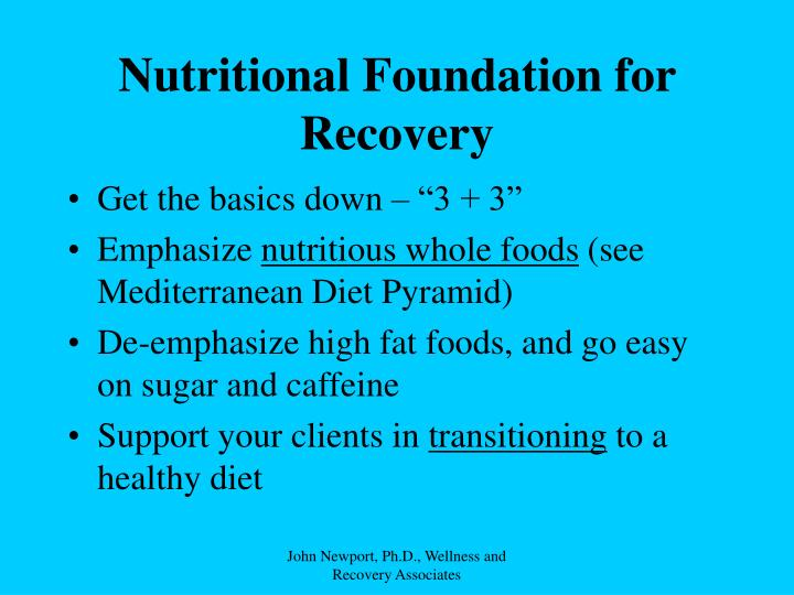 Nutritional Foundation for Recovery
