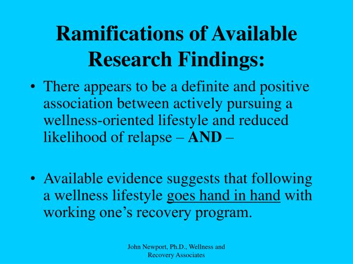 Ramifications of Available Research Findings: